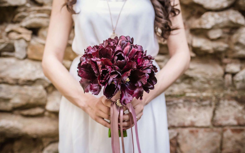 Kwietniowy bukiet ślubny